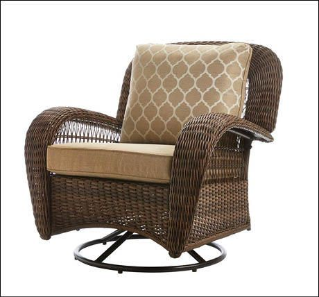 Hampton Bay Beacon Park All Weather Wicker Swivel Gliding Lounge