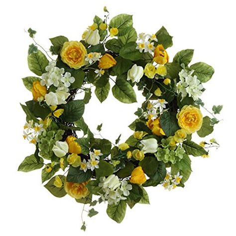 Tulip and Hydrangea Floral Wreath, 22 Inches Diameter, Yellow and White RZI http://www.amazon.com/dp/B00PJ1V8OW/ref=cm_sw_r_pi_dp_2Lr7ub0CVDRMP
