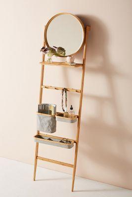 Leaning Ladder Vanity Anthropologie Diy Bathroom Design Wall Mounted Shelving Unit Top Bathroom Design