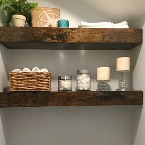 Wood Floating Shelves 3 Inches Thick 10 Inch Deep Rustic Shelf Farmhouse Shelf Reclaimed Wood Floating Shelf Handmade Shelf Wood Wood Floating Shelves Floating Shelves Rustic Shelves