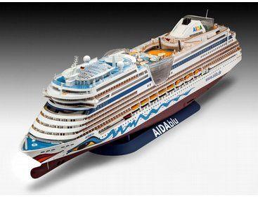 The Revell Cruiser Ship AIDA From The Plastic Ship Model - Cruise ship model kits
