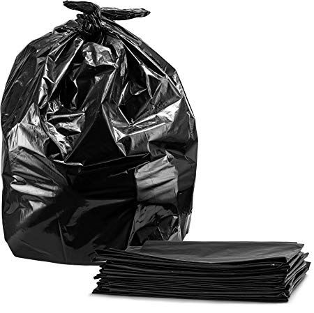 40 45 Gallon Trash Bags Large Black Heavy Duty Garbage Bags 40 Wx46 H 1 5 Mil 100 Count By Tasker Review Rubbish Bag Trash Bags Trash Bag