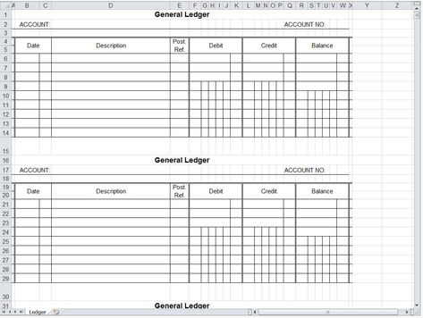 A general ledger is a set of accounts that is used to keep a - printable ledger
