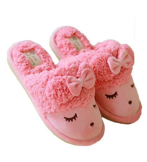 Ru Sweet Womens Sheep Warm Plush Soft Sole Indoor Slipper