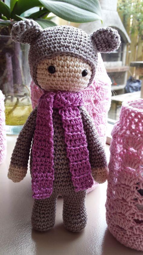 Patroon van Emmie de regenboog beer…  Emmie is een patroon dat door mij is bedacht, met als inspiratie Bina de beer (een lalylapatroon) De maakster van de lalyapatronen heeft aangegeven dat het gratis