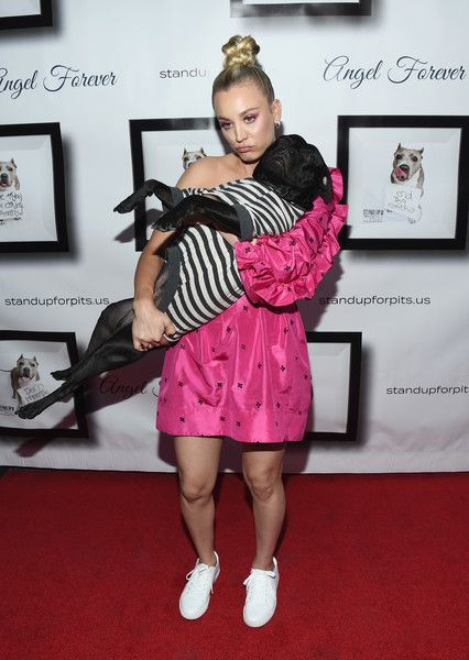 Actress Kaley Cuoco arrives at the 8th Annual Stand Up For Pits at the Hollywood Improv Comedy Club.