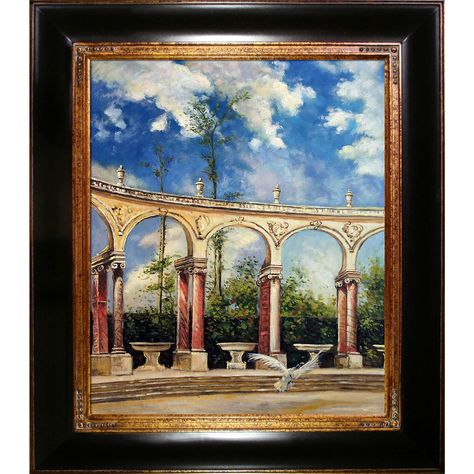 Giovanni Boldini 'The Collonade in Versailles' Hand Painted Framed Art