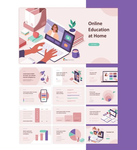 Online Education Pitch Deck Animation PPT Template Slide Members