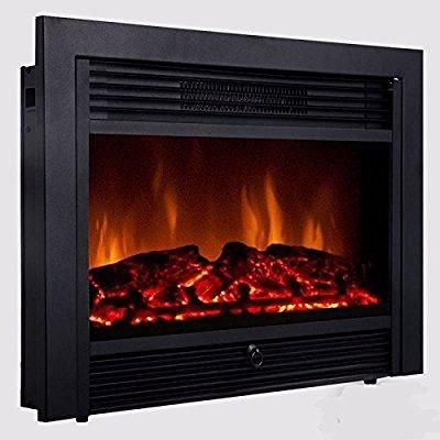 28 5 Inch Embedded Fireplace Electric Insert Heater Glass View Log Flame Remote Hom Electric Fireplace Heater Best Electric Fireplace Electric Fireplace Insert