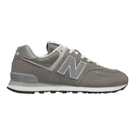 Men's New Balance M574 Sneaker - Grey Suede/Mesh Running Shoes #New Balance