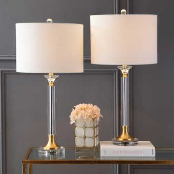 Bedroom Table Lamp Sets Crystal Table Lamp Set Eyely In 2020 Gold Table Lamp Crystal Table Lamps Led Table Lamp