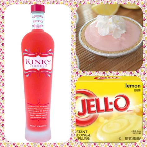 Delicious! #cocktail, #recipe, #kinkyliqueur  Kinky Pink Lemonade Pudding Shots 1 small Pkg. lemon instant pudding ¾ Cup Milk 3/4 Cup Creme Kinky Liqueur 8oz tub Cool Whip  Directions 1. Whisk together the milk, liquor, and instant pudding mix in a bowl until combined. 2. Add cool whip a little at a time with whisk. 3.Spoon the pudding mixture into shot glasses, disposable shot cups or 1 or 2 ounce cups with lids. Place in freezer for at least 2 hours