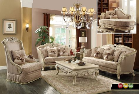 Luxury Traditional Sofa Set Antique White Exposed Wood W Best Wooden Living Room Set Inspiration Design