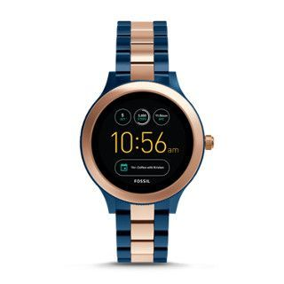 Gen 3 Smartwatch Q Venture Rose Two Tone Stainless Steel Fossil Smart Watch Fossil Watches Smart Watch