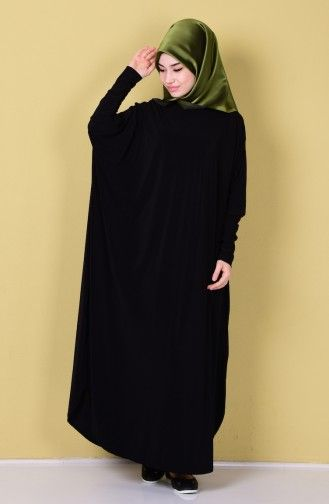 Sefamerve Yarasa Kol Ferace 17141 01 Siyah Moda Yarasalar Giyim