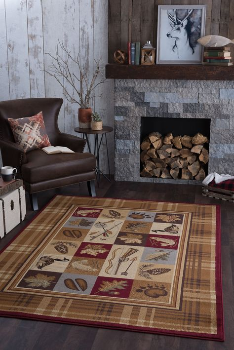 8 X 10 Large Tan Brown And Blue Area Rug Nature Area Rugs