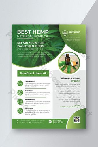Green Hemp Product Sale Flyer Design Template | AI Free Download - Pikbest