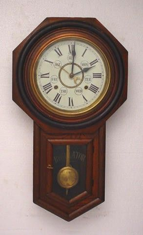 Antique Mahogany Octagon Week Calendar Wall Clock We Are Offering A Nice Octagon Drop Week Calendar School Wall Clock This Wall Clock Clock Vintage Wall Clock