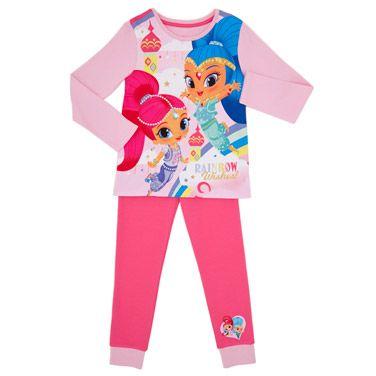 Shimmer and Shine Girls Long Pajamas Pjs Pink