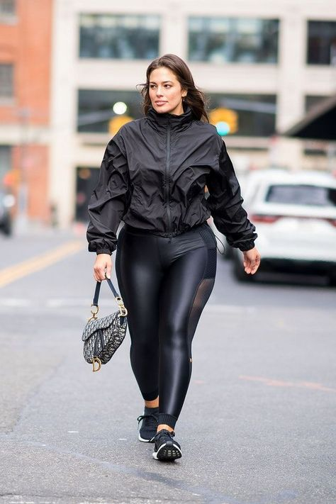 Ashley Graham Just Defined Athleisure In The Best All-Black Outfit