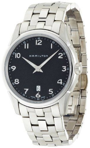 Hamilton Men's HML-H38511133 Jazzmaster Thinline Black Dial Watch Hamilton. Save 38 Off!. $321.75. Case diameter: 42 mm. Water-resistant to 165 feet (50 M). Durable sapphire crystal protects watch from scratches. Stainless steel case. Quartz movement