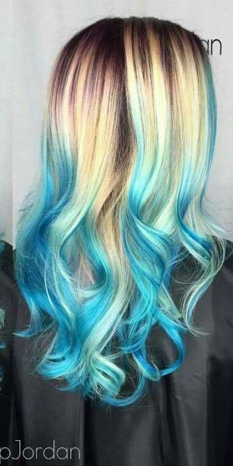 Hair Dyed Blue Tips Blondes 27 Ideas Hair Hair Inspiration