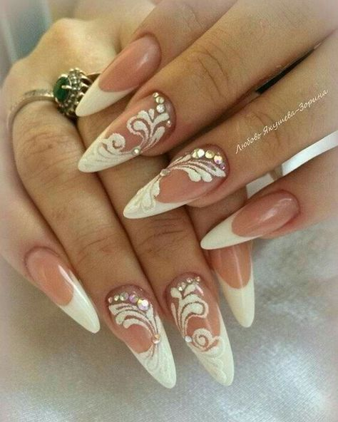 Pin By Nargeshamedani On Korom Bride Nails Simple Wedding Nails Wedding Nails