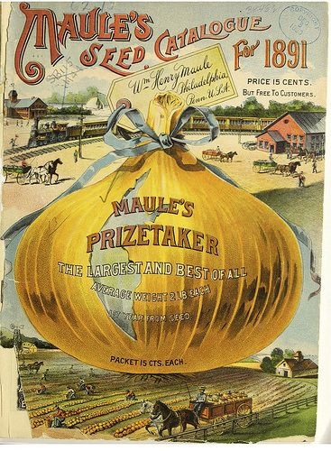 1906 Farm Vintage Fruit Vegetable Seed Packet Catalogue Advertisement Poster