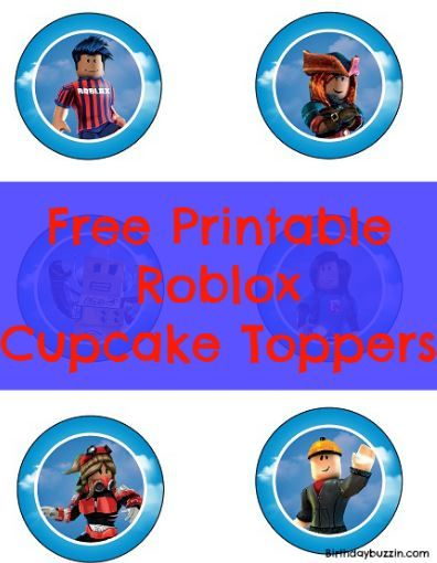 Free Printable Roblox Cupcake Toppers Cupcake Toppers Free
