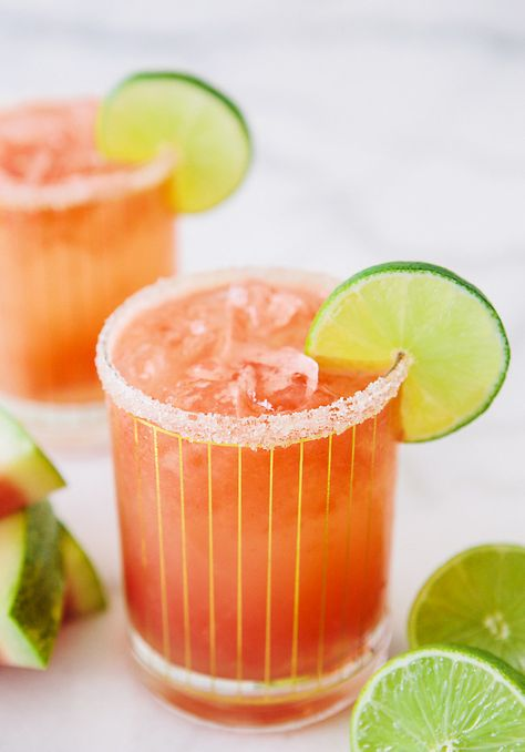 Boozy Watermelon Coconut Refresher via A House in the Hills