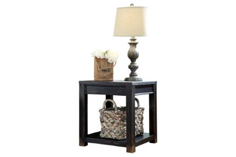 Ashley Furniture Gavelston Dry Vintage Wood End Table Furniture