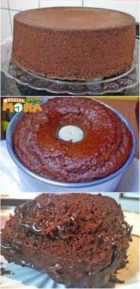 Bolo De Chocolate De Liquidificador Simples E Rapido Receita