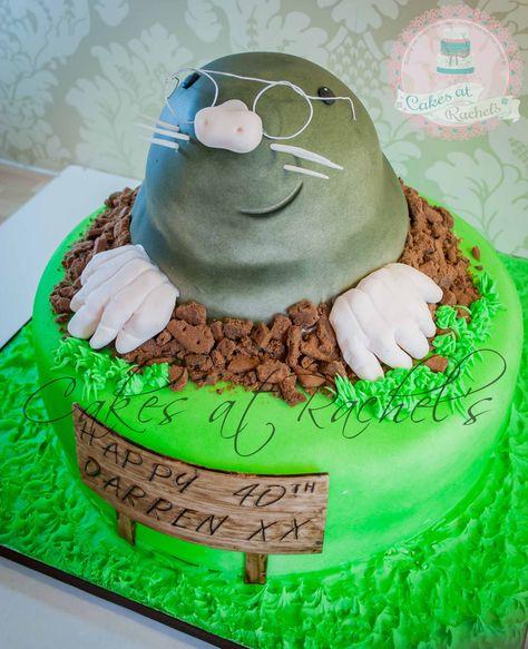 Mole in a Hole Cake