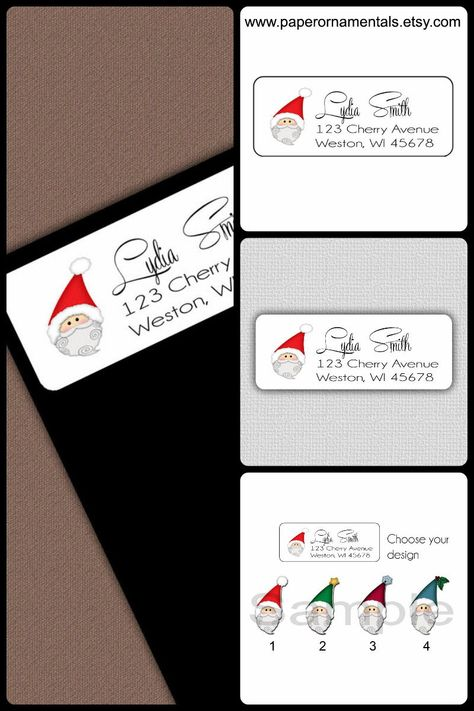 christmas address label personalized self stick labels with cute
