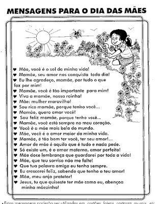 Atividades Sobre O Dia Das Maes Cantinho Do Educador Infantil