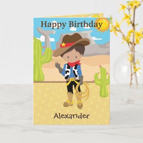 Giddy Up Little Cowboy | Boys Birthday Card
