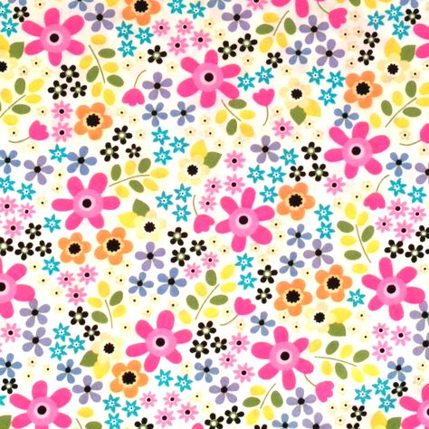 100/% Cotton Poplin Fabric Rose /& Hubble Floral Patchwork Polka Dots