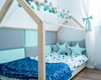 Cot Bed 80 X 160 Cm Toddler House Bed Bed House Beds
