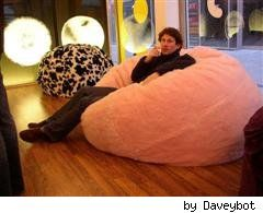 DIY Bean Bag Chair.  My kid wants one of these and they are so darn expensive.  I'm not sure if I want to diy but I might check into it next time he asks.