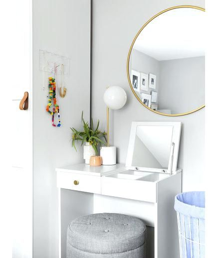 Brimnes Dressing Table White Dressing Table With Storage Ottoman