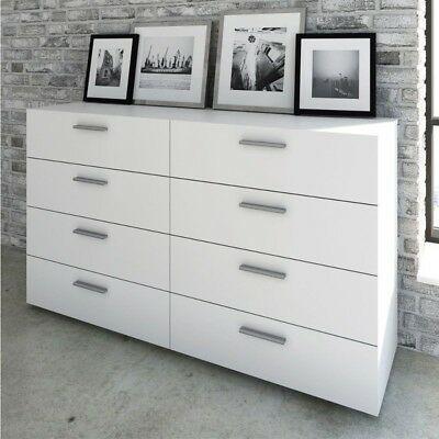 Cassettiera Doppia Betty Gihome Moderna Mobile Como Bianco Opaco 8 Cassetti Home Home Decor Furniture