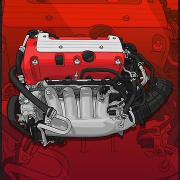 K20 Engine With Background Classic T Shirt By Artymotive Jdm Honda Honda Civic Vtec Honda Civic Dx