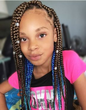 Easy 11 Box Braids Hairstyles For Kids New Natural Hairstyles Kids Box Braids Box Braids Hairstyles Box Braids Styling