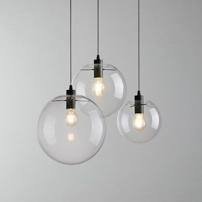 Modern Glass Ball Pendant Chandelier For The Stairwell Would Need One Of Each Size Armatur Modern Belysning Hangande Belysning