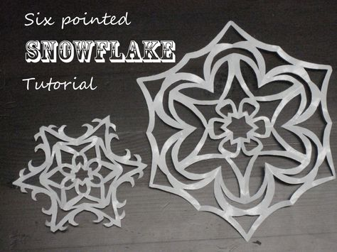 SIX pointed Paper Snowflake Tutorial