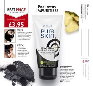Oriflame Catalogue Oriflame Cosmetics Charcoal Peel Off Mask Beauty Skin Care Peel Off Mask