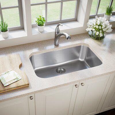 Mrdirect Stainless Steel 30 L X 18 W Undermount Kitchen Sink Single Bowl Kitchen Sink Stainless Steel Sinks Stainless Steel Kitchen Sink