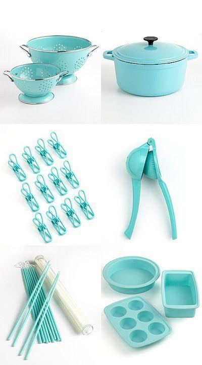 Piece Stainless Steel Kitchen Utensils Gadget Set With Utensil Hanging Kitchenutensilschapter9s Blue Kitchen Decor Tiffany Blue Kitchen Turquoise Kitchen