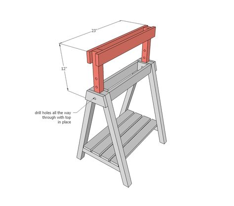Ana White | Build a Adjustable Height Sawhorses | Free and Easy DIY Project and Furniture Plans