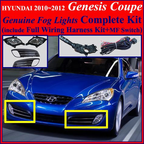 7dccb8c143121386d711ec39167a95d4 hyundai genesis coupe lamps fog light lamp complete kit,wiring harness for 2010~2012 hyundai Genesis Coupe LED Tail Lights at eliteediting.co